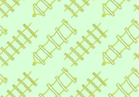 Illustrazione senza cuciture di vettore del modello della scala libera di corda