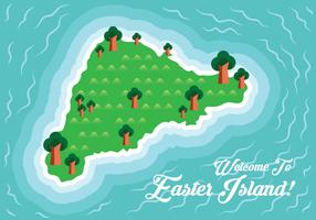 Mappa dell'isola di Pasqua vettore