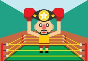 lottatore che tiene cintura campione