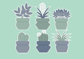 Vector piante in vaso