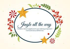 Biglietto di auguri vacanze vettoriali gratis Design piatto