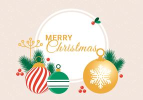 Cartolina d'auguri di vacanza invernale di vettore di design piatto gratuito