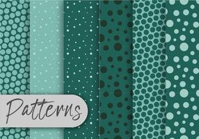 Cool Green Pattern Set vettore