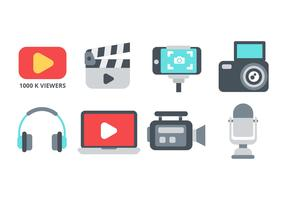 Vettore libero delle icone del creatore di contenuti