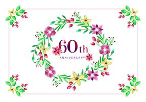 Vector 60 anni anniversario