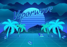 Illustrazione di sfondo di Vaporwave