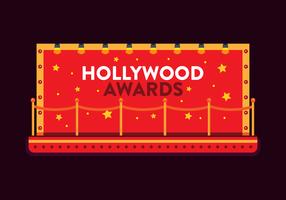 vettore di tappeto rosso di hollywood