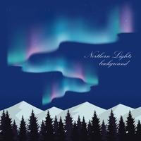 Illustrazione di paesaggio aurora boreale vettore