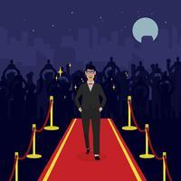 Uomo sull'illustrazione di Hollywood Red Carpet
