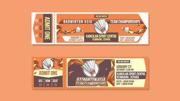 Vettore gratis del biglietto di campionato di badminton