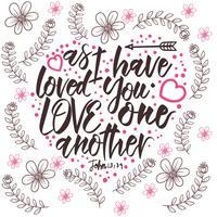 Amiamo l'un l'altro la tipografia