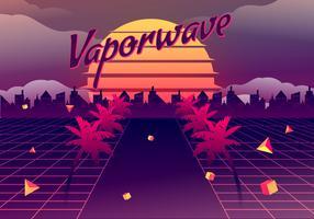 Illustrazione di sfondo vettoriale di Vaporwave