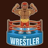 wrestler messicano 1 vettore