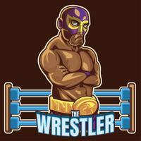 wrestler messicano 2 vettore