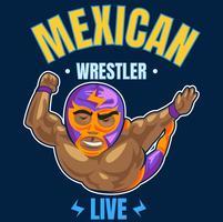 wrestler messicano 3 vettore