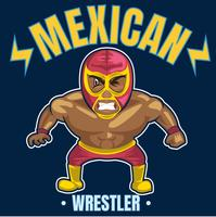 wrestler messicano 4 vettore