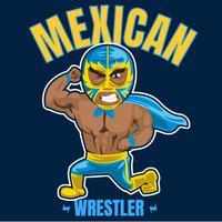 wrestler messicano 5 vettore