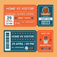 Biglietto del torneo di basket vettore