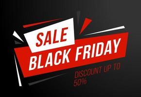 vendita poster vendita venerdì nero. vendita venerdì nero con sconto del 50 percento. banner per eventi di sconto commerciale.