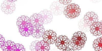sfondo naturale vettoriale viola chiaro, rosa con fiori.