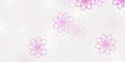 opera d'arte naturale vettoriale rosa chiaro con fiori.