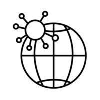 icona della linea di coronavirus, medicina e scienza
