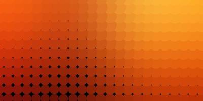 sfondo vettoriale arancione scuro con punti.