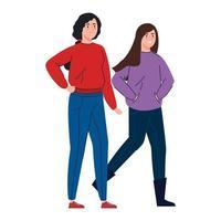 donne felici che camminano insieme