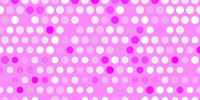 sfondo vettoriale rosa chiaro con macchie.