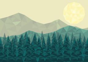 bacground di vettore del paesaggio della foresta di poli basso