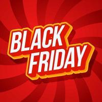 vendita 50 off illustrazione vettoriale tipografia. vendita venerdì nero su sfondo rosso spirale ipnotica illusione ottica turbinio. semplice illustrazione grafica vettoriale.