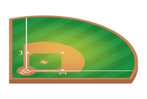 campo da baseball isometrico. illustrazione piatta del disegno vettoriale campo da baseball.