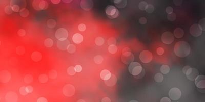 modello vettoriale rosso scuro con sfere.