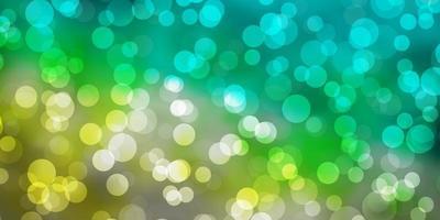 modello vettoriale azzurro, verde con cerchi.
