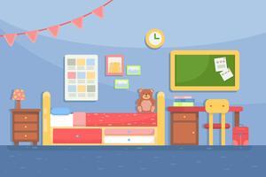 Vettore della decorazione della stanza dei bambini
