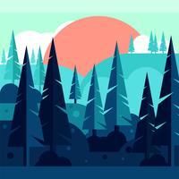 Illustrazione astratta della foresta vettore