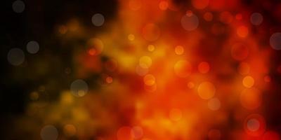 sfondo vettoriale arancione scuro con macchie.