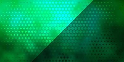 modello vettoriale verde chiaro con cerchi.