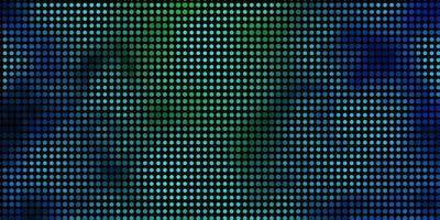struttura di vettore blu chiaro, verde con cerchi.