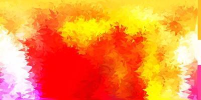 layout poligonale geometrico vettoriale rosso chiaro, giallo.