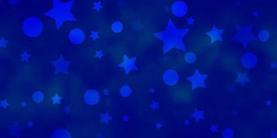 layout vettoriale azzurro con cerchi, stelle.
