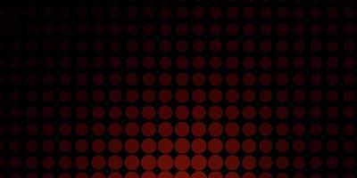 sfondo vettoriale rosso scuro con bolle.