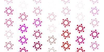 modello vettoriale rosa chiaro con segni di influenza.