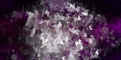 disegno a mosaico triangolo vettoriale rosa scuro.