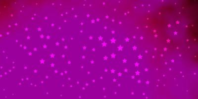 layout vettoriale rosa scuro con stelle luminose.