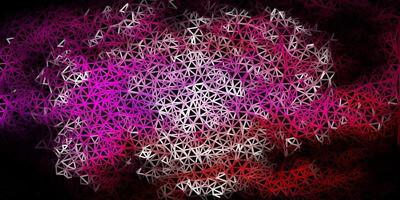 struttura del triangolo astratto di vettore rosa scuro.