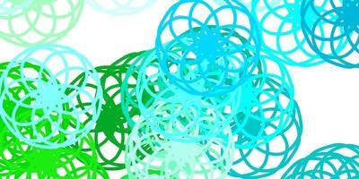 struttura di vettore blu chiaro, verde con dischi