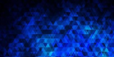 modello vettoriale blu scuro con linee, triangoli.