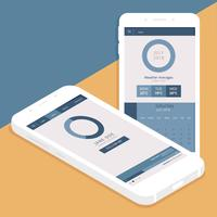 Vector GUI dell'app mobile