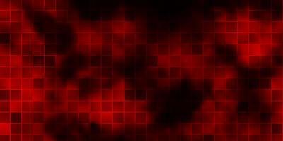 sfondo vettoriale rosso scuro con rettangoli.